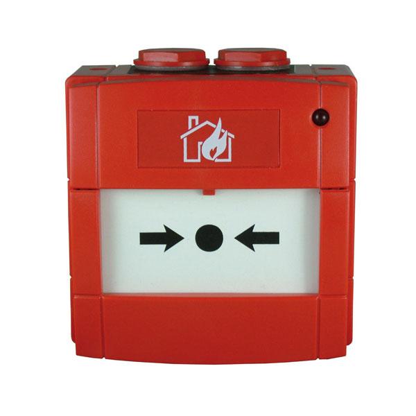NOTIFIER-104 | Pulsador de alarma direccionable de 01 a 159 con led y aislador de cortocircuitos incorporado para sistemas analógicos de NOTIFIER
