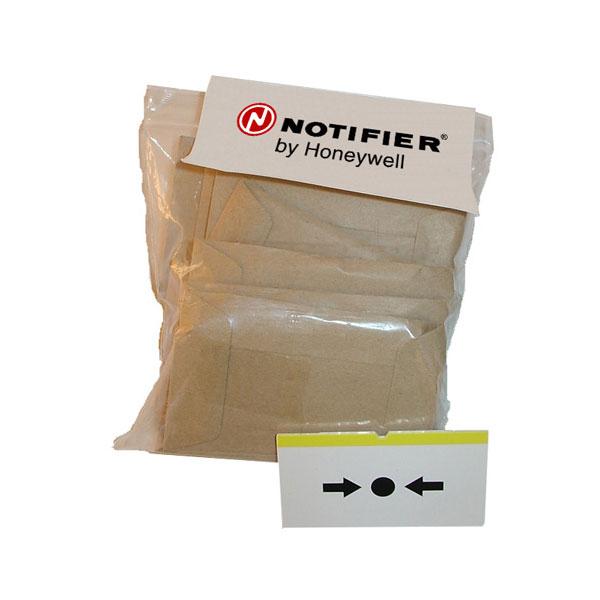 NOTIFIER-108 | Paquete de 10 plásticos flexibles de recambio para pulsador rearmable para los pulsadores rearmables de la serie KAC.