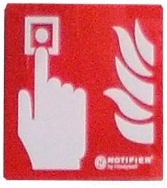 NOTIFIER-112 | Panel indicador de la ubicación del pulsador de alarma manual de plexiglas.