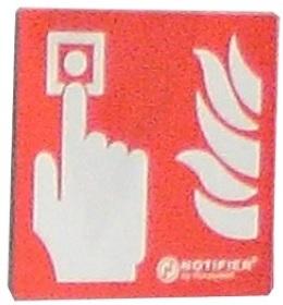 NOTIFIER-113 | Panel indicador de la ubicación del pulsador de alarma manual metálico.