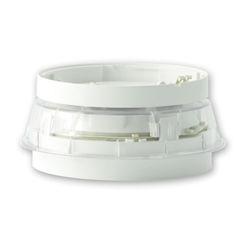 NOTIFIER-142 | Sirena con flash direccionable integrada en base de detector de color blanco y con aislador.