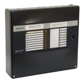 NOTIFIER-166   Central convencional micro procesada de 8 zonas con 2 salidas de sirenas supervisadas y 2 entradas.