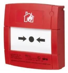 NOTIFIER-210   Pulsador de alarma rearmable de color rojo para sistemas convencionales.