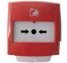 NOTIFIER-211   Pulsador de alarma por rotura de cristal con contacto NA o NC, de color rojo para sistemas convencionales.