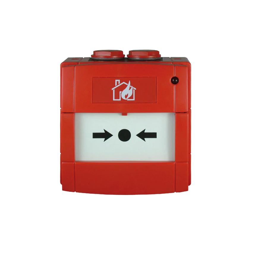 NOTIFIER-213   Pulsador de alarma por rotura de cristal con contacto NA o NC, de color rojo para sistemas convencionales.