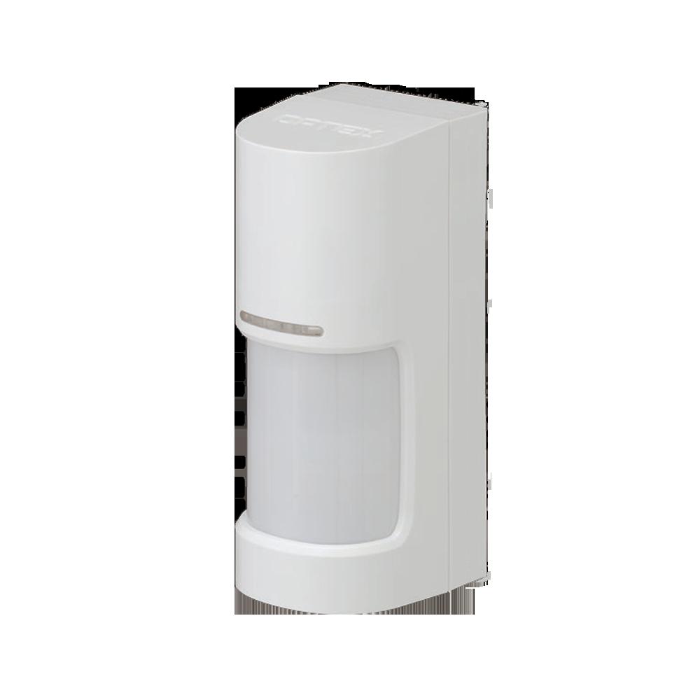 OPTEX-158 | Detector PIR vía radio panorámico 180° de la serie WX Infinity para exteriores con antimasking por LED activo
