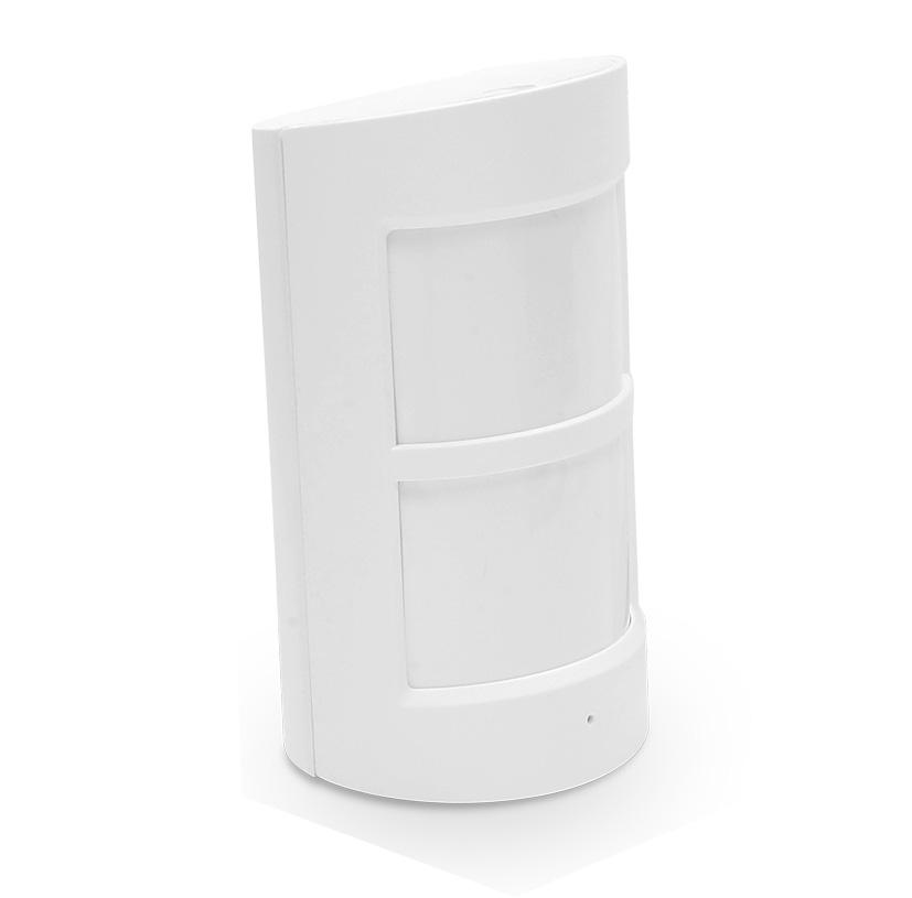QAR-336   WIZARD - Detector volumétrico PIR anti mascotas - Inalámbrico - Antena interna - Indicador LED de baja batería - Rango de detección 8 m / 110º - Inmunidad ante mascotas ≤ 25 Kgs - Alimentación 2 pilas AA 1.5 V LR6