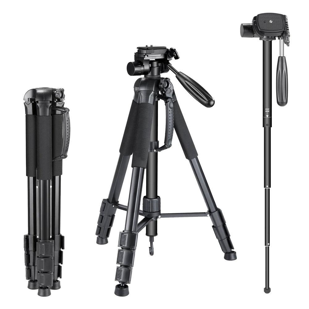 SAM-4643 | Treppiede convertibile in monopiede per telecamere con testa rotante a 3 vie