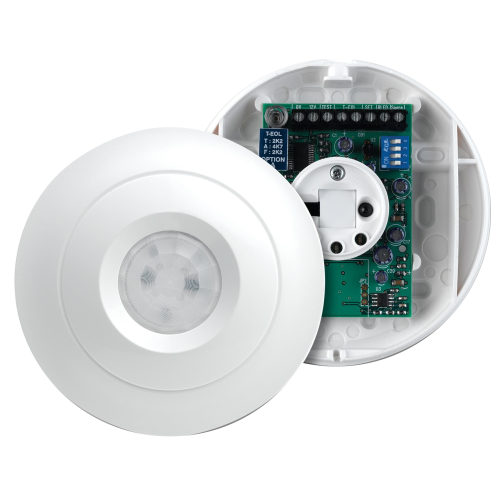TEXE-12 | Detector PIR QUAD digital de techo con antimasking Premier Elite AM360 QD