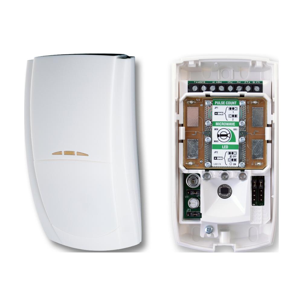 TEXE-16   Detector de doble tecnología PIR y Microondas Banda X Premier Elite DT de alta inmunidad con sistema de módulos PCB intercambiables