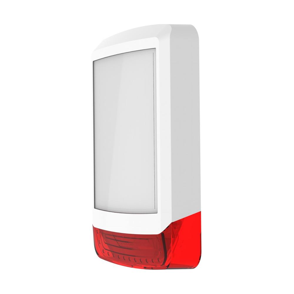 TEXE-22 | Cubierta frontal Odyssey X1 en color blanco/rojo para base de sirena retroiluminada de exterior Odyssey X-B.