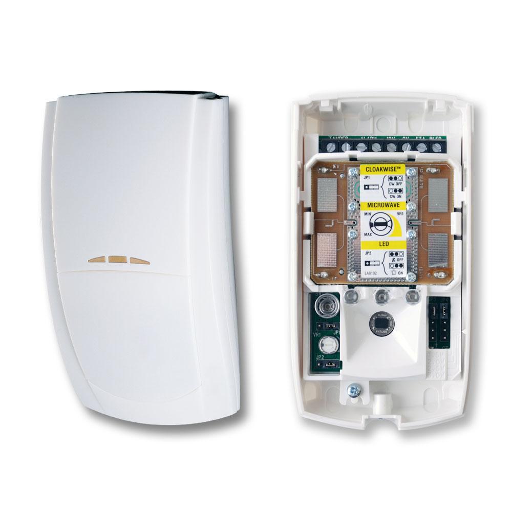 TEXE-31   Detector de doble tecnología PIR y Microondas Banda X Premier Elite CW de alta inmunidad con sistema de módulos PCB intercambiables