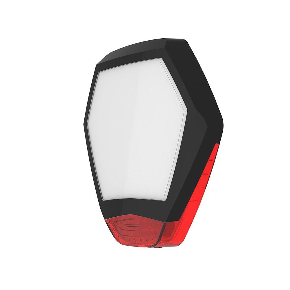 TEXE-36 | Cubierta frontal Odyssey X3 en color negro/rojo para base de sirena retroiluminada de exterior Odyssey X-B