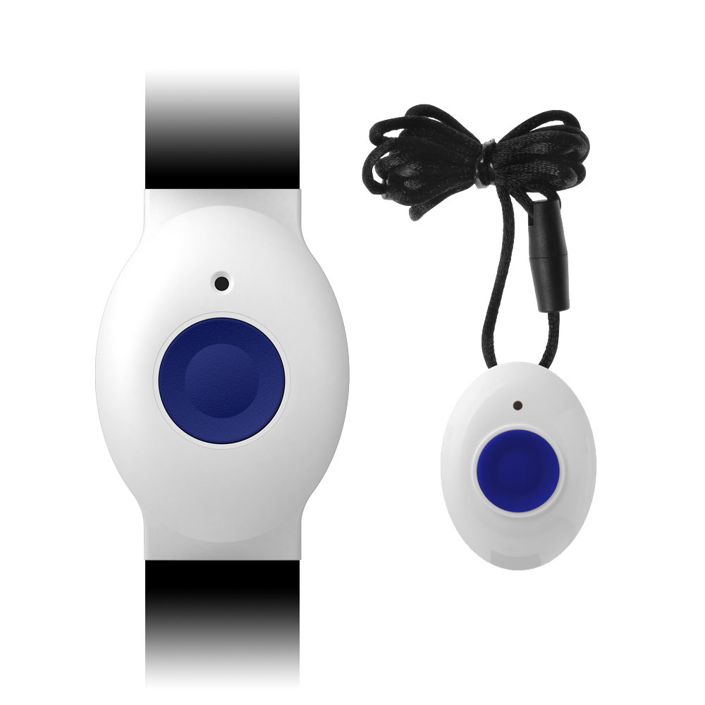 VESTA-075 | Trasmettitore da polso VESTA by Climax e pendente con pulsante di emergenza