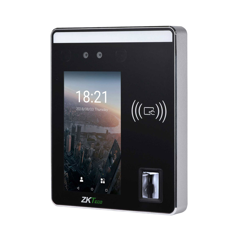 ZK-124 | ZKTeco facial recognition terminal and proximity reader EM125 for Access Control and Presence