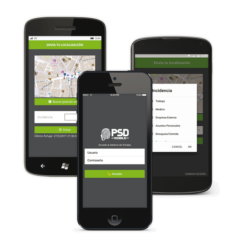 ZK-73 | Licence pour application mobile PSD MOBILE de Presence Control