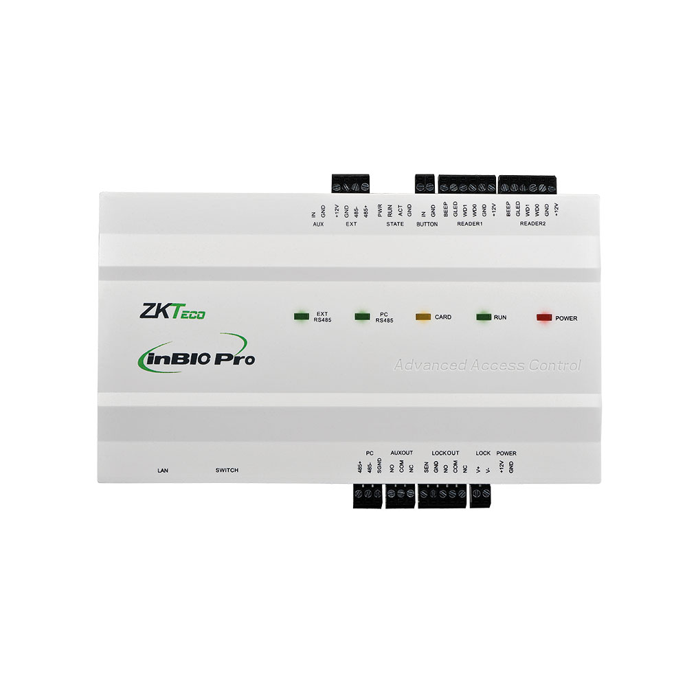 ZK-93 | Biometric IP panel InBio-160 Pro for access control of 1 ports and 4 readers.
