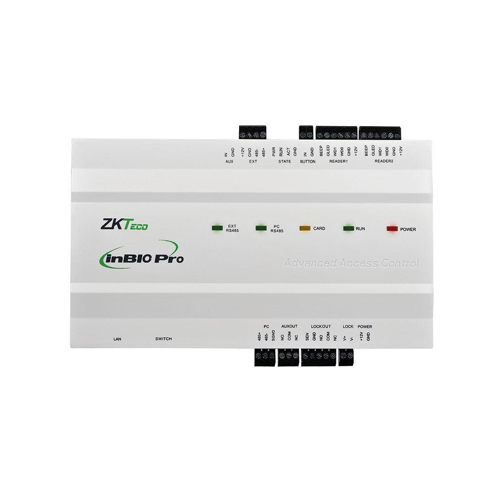ZK-93 | Panel IP biométrico InBio-160 Pro para Control de Accesos de 1 puerta y 4 lectores.