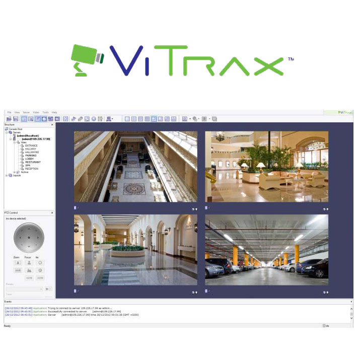 CONAC-459 |  Software cliente VITRAX de Rosslare para 9 cámaras / 3 usuarios
