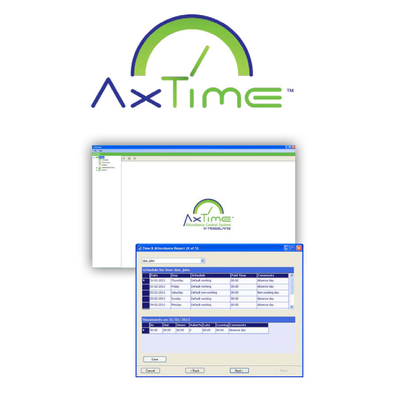 CONAC-611   AxTime ™ attendance control system for ROSSLARE concentrators
