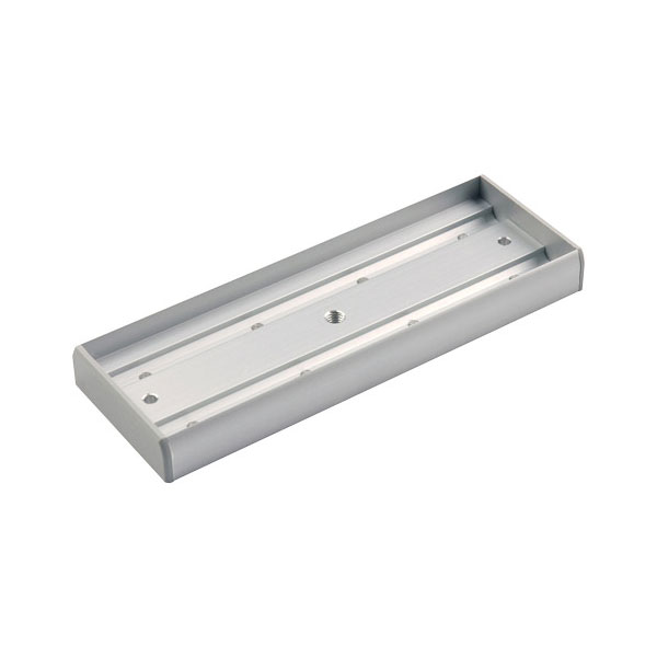 CONAC-760 | Aluminum mount box for electromagnetic retainers of 600 kg CONAC-381 and CONAC-382.