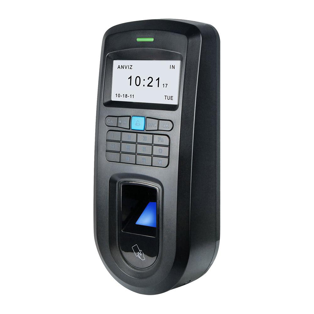 CONAC-761 | Lector biométrico autónomo Anviz de huellas dactilares y tarjetas MIFARE, con teclado