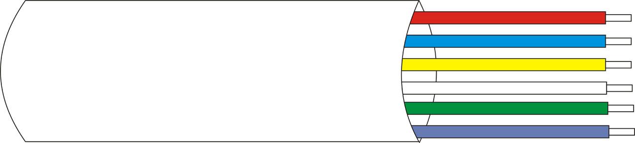 DEM-119 | Câble gainé blindé de 6 x 0,22