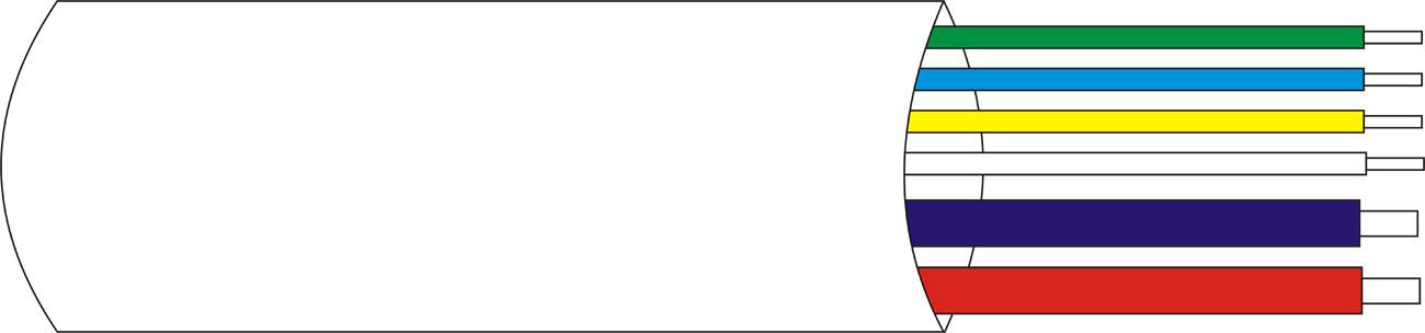 DEM-122 | Rollo 100 mts. de cable con funda de 2 x 0,75 + 4 x 0,18