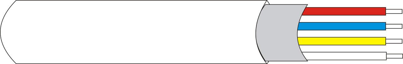 DEM-127 | Rollo 100 mts. de cable con funda Apantallado de 4 x 0,18