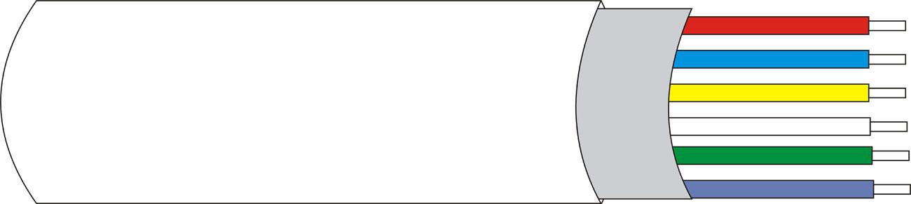 DEM-128 | Cavo schermato con guaina 6 x 0,22