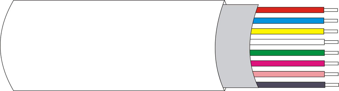 DEM-130 | Rollo 100 mts. de cable con funda Apantallado de 8 x 0,18