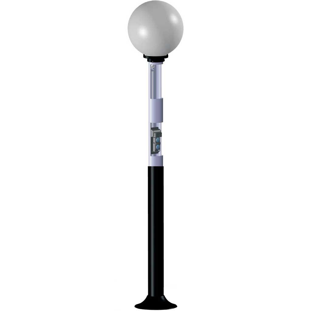 DEM-537 | Lighting-type column for infrared barriers