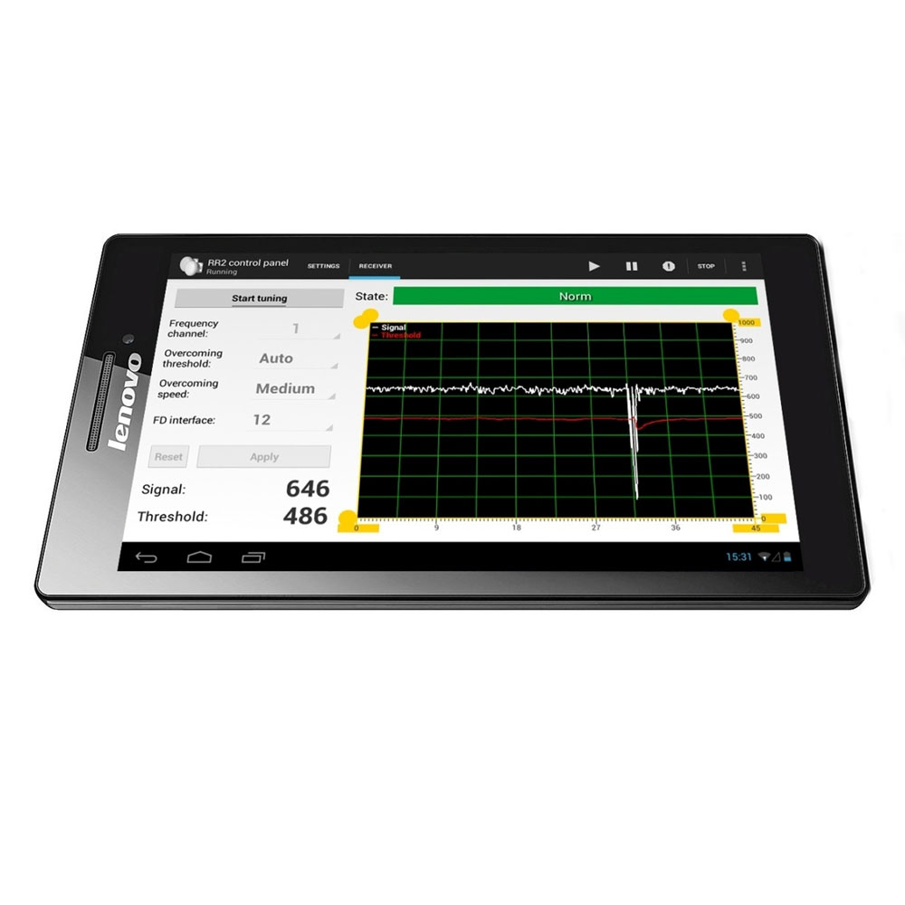DEM-666 | Tablet with software for programming microwave barriers DEM-662, DEM-663, DEM-664
