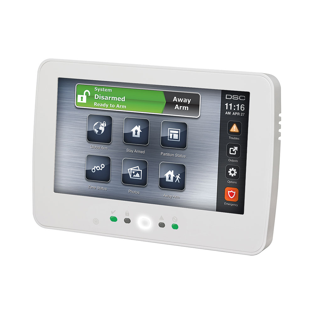 "DSC-14 | Keypad with 7 ""color LCD touch screen and proximity reader"