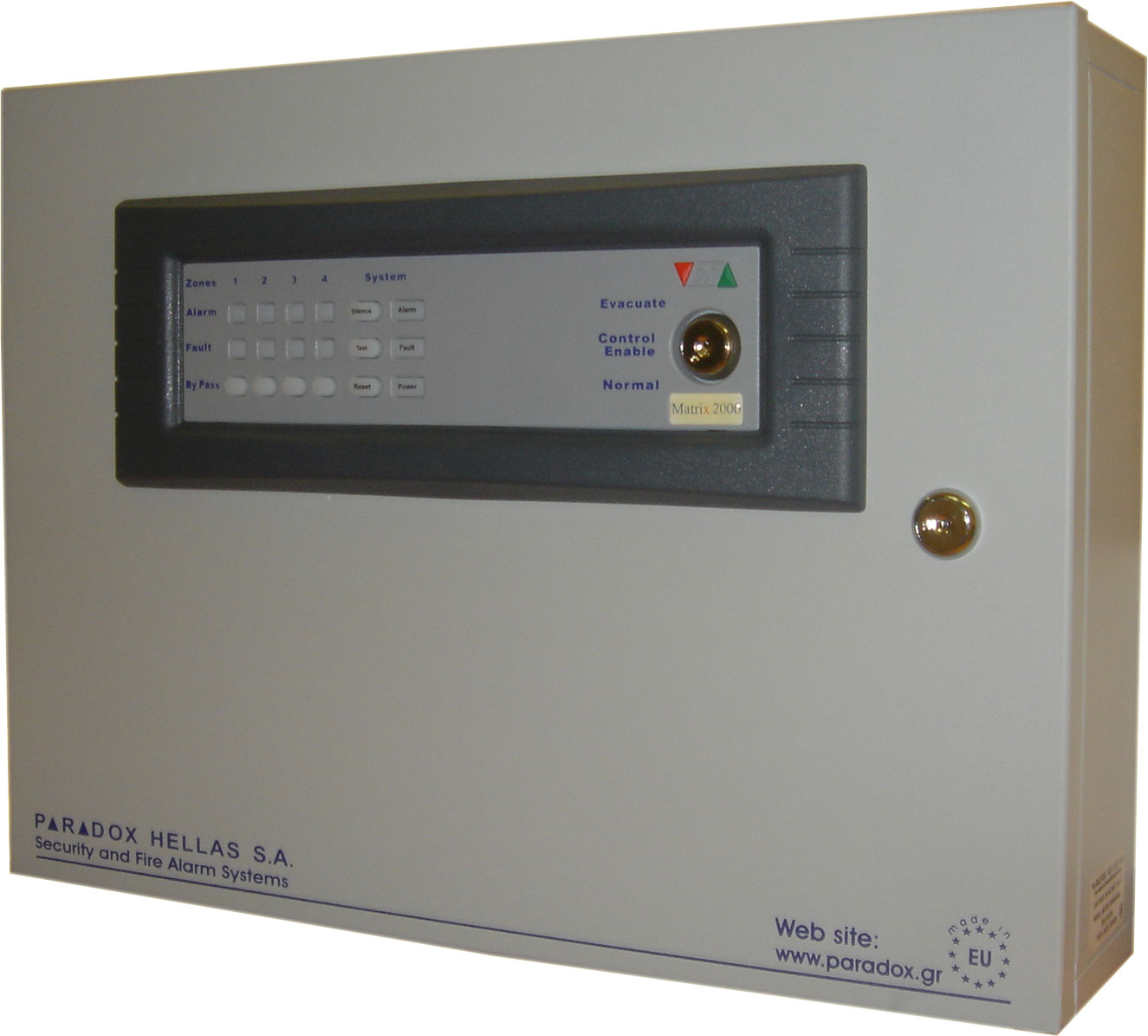 FOC-200 | Micro process engineered PARADOX HELLAS fire detection central station of 4 zones