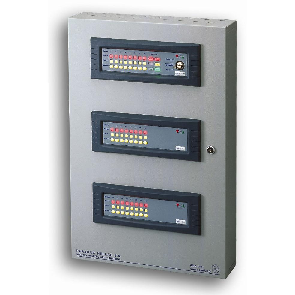 FOC-230 | Centrale rilevamento incendi con microprocessore PARADOX HELLAS a 24 zone