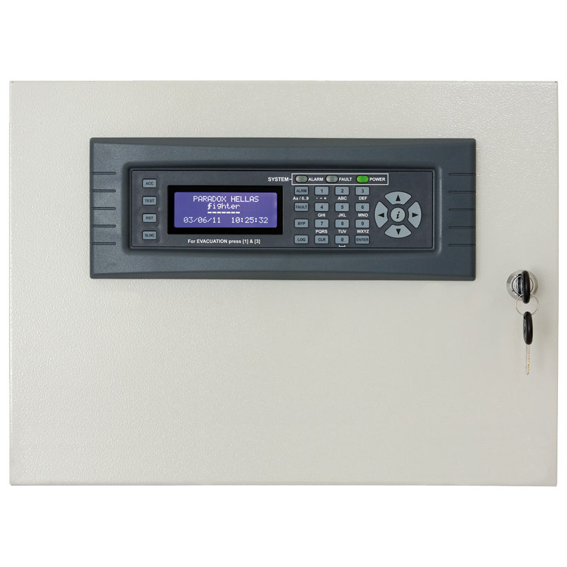 FOC-372   8 zone expander panel + 8 relays with LCD keypad for PARADOX HELLAS Fighter