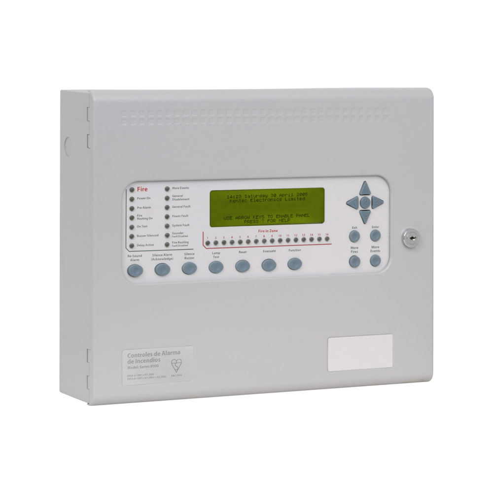 FOC-409 | Kentec Syncro As analogue fire control system with 1 loop and 126 Apollo protocol elements addressable by loop