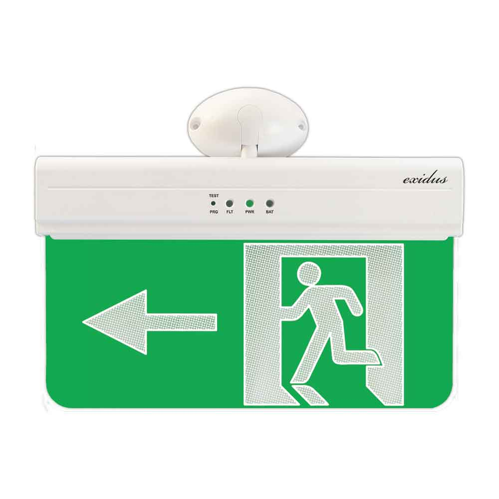 FOC-639L | Emergency EXIT signal (left side), EXIDUS line for ceiling or wall mount