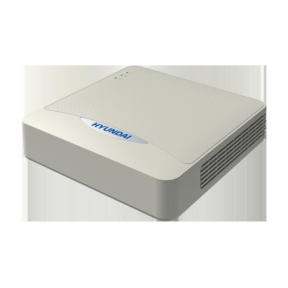 HYU-784   ZVR 5 en 1 HYUNDAI de 4 canales HDCVI/HDTVI/AHD/CVBS + 2 canales IP. Formatos de vídeo H.265 Pro+, H265 Pro, H.265, H.264+, H.264. Audio bidireccional. Reproducción sincronizada de 4 canales. Grabación 4MP, 1080P, 720P, 960H, D1/4CIF, VGA, CIF, QVGA, QCIF (25 ips). Salidas HDMI (4K) y VGA (1080P) simultáneas. Salida BNC a D1/4CIF. Capacidad de 1 HDD SATA. Onvif, P2P, DDNS. 2 USB, 1 RS485. 12V CC.