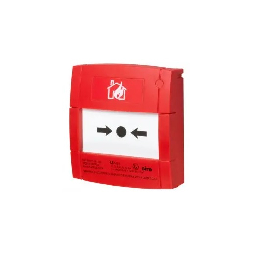 NOTIFIER-343 | Red glass break alarm button with 470 alarm resistance? for conventional systems.