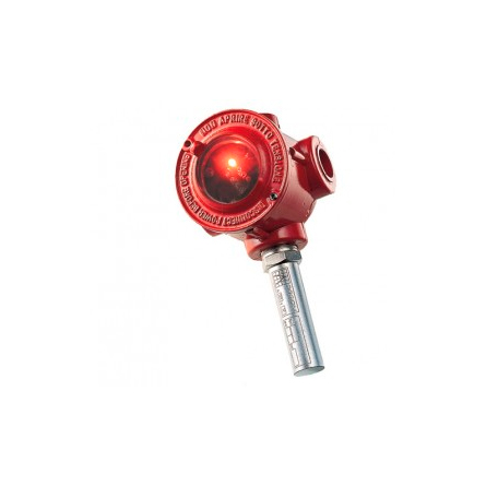 NOTIFIER-391   Self-resetting thermal probe with activation range between 99 ° C and 115 ° C (class D) mounted in ATEX II 2G EEx-d IIC T6 box, with IP66 degree of protection.