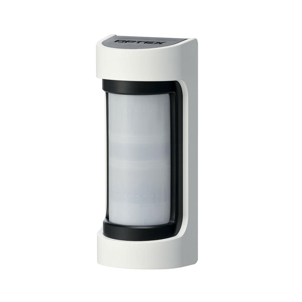 OPTEX-125 | Detector doble tecnología (doble PIR y microndas 10,525 GHz) para exteriores de 12m, 90° de alcance