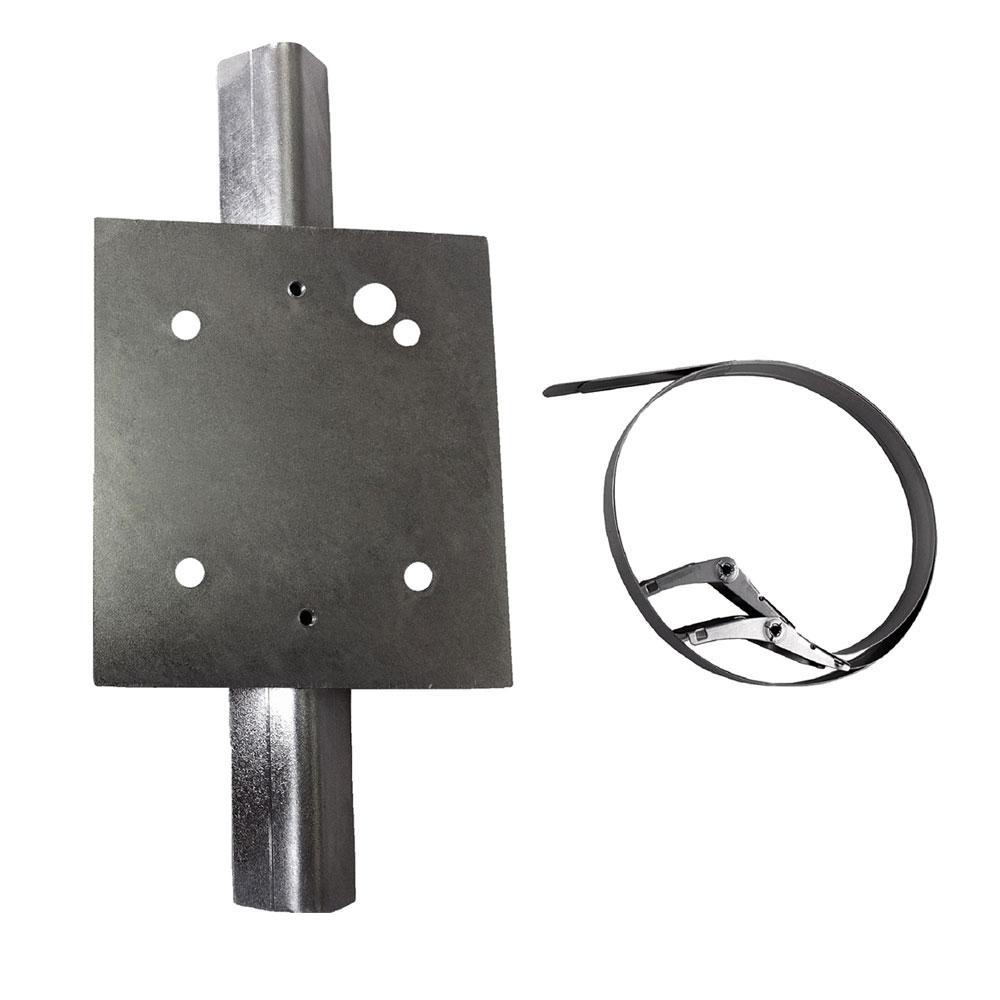 OPTEX-88 | Soporte de montaje en poste compatible con la serie SIP Redwall