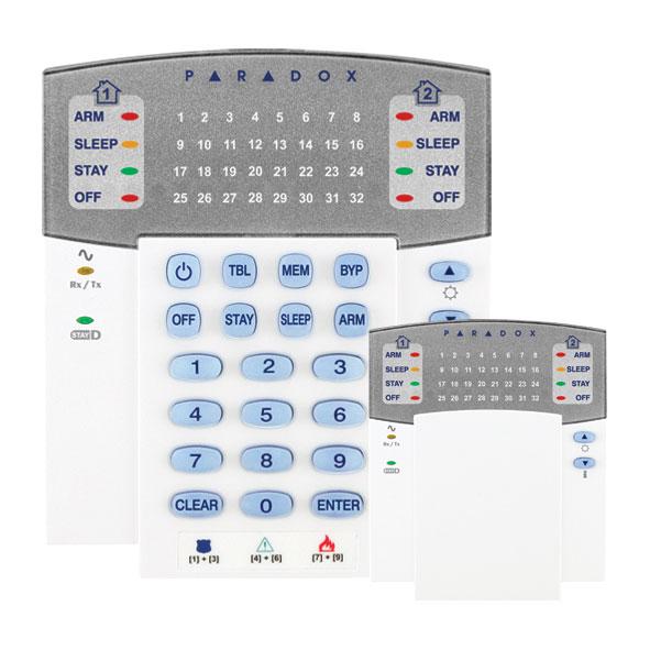 PAR-120F | Clavier leds de 32 zones via radio bidirectionnel