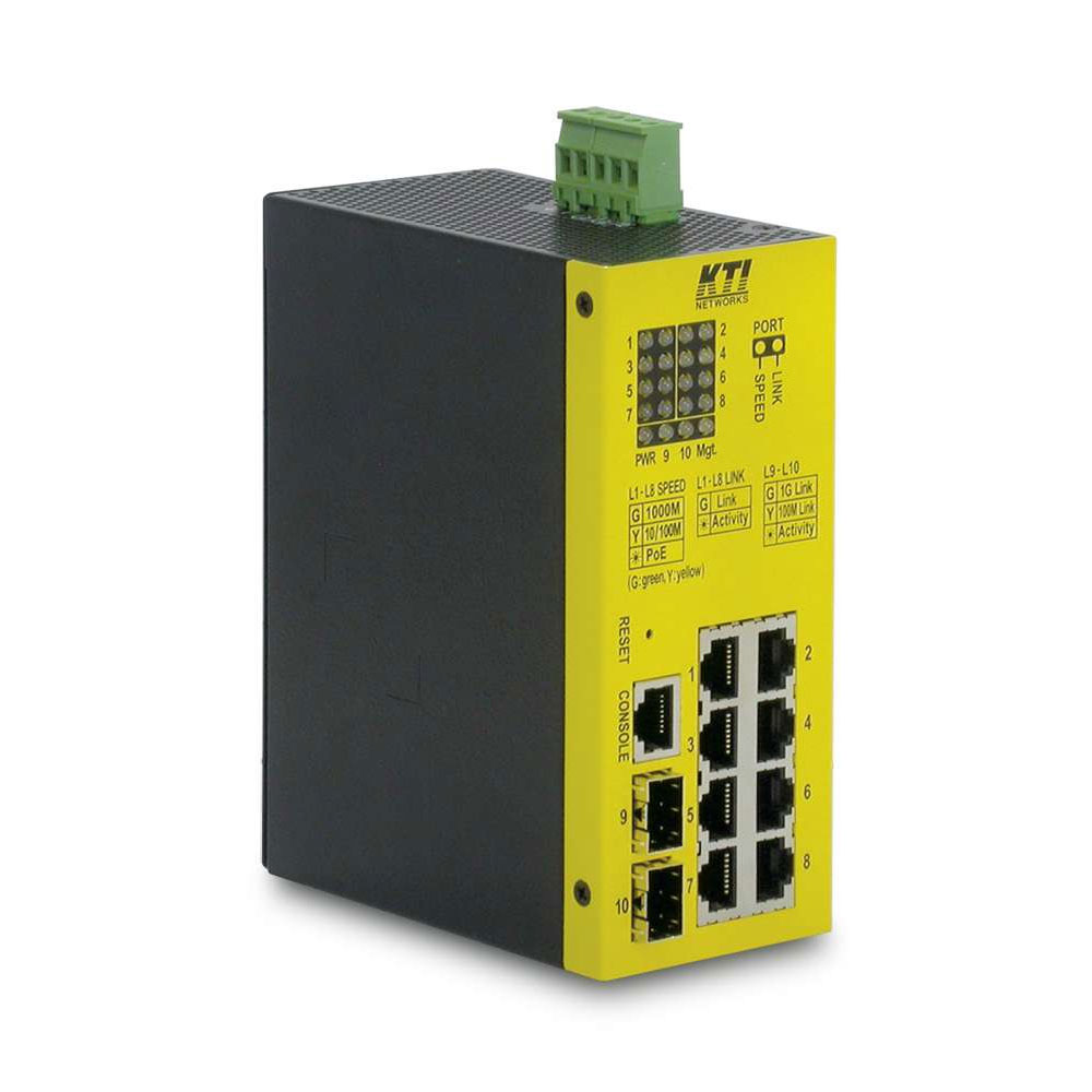 SAM-4161 | Switch manageable PoE + (L2 +) industrial range of 8 RJ45 ports 10/100 / 1000Mbps + 2 ports SFP mini-GBIC 100 / 1000Mbps