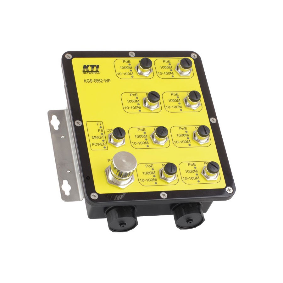 SAM-4387 | Switch PoE+ managed (L2) industrial range, antivibration design and IP67