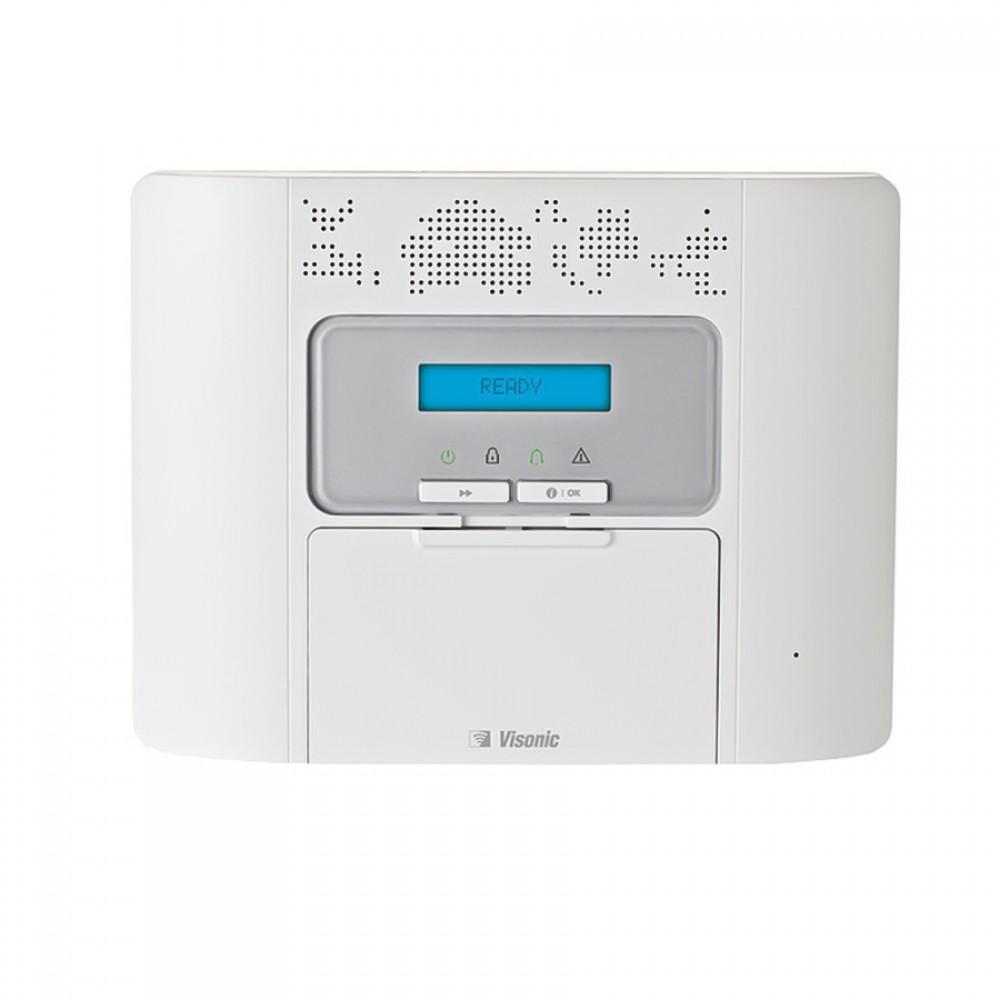 VISONIC-87   Kit compuesto por: 1x Central VISONIC-138 (PMASTER-30 SP) de 64 zonas vía radio y textos en español, 1x Módulo GPRS/GSM/SMS VISONIC-45 (GSM-350 PG2).