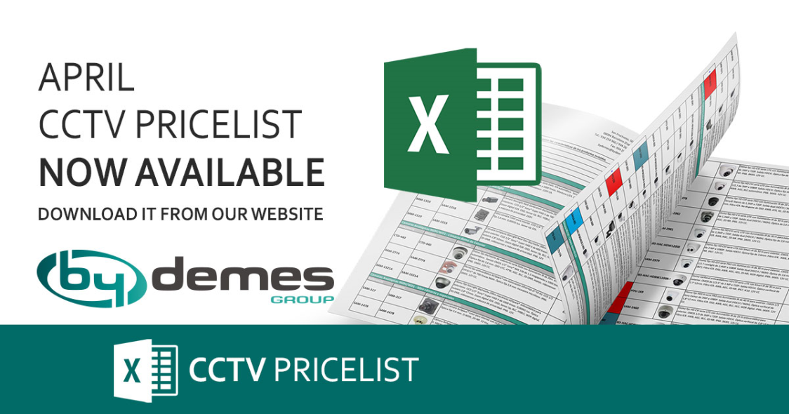 New April CCTV pricelist is now available!