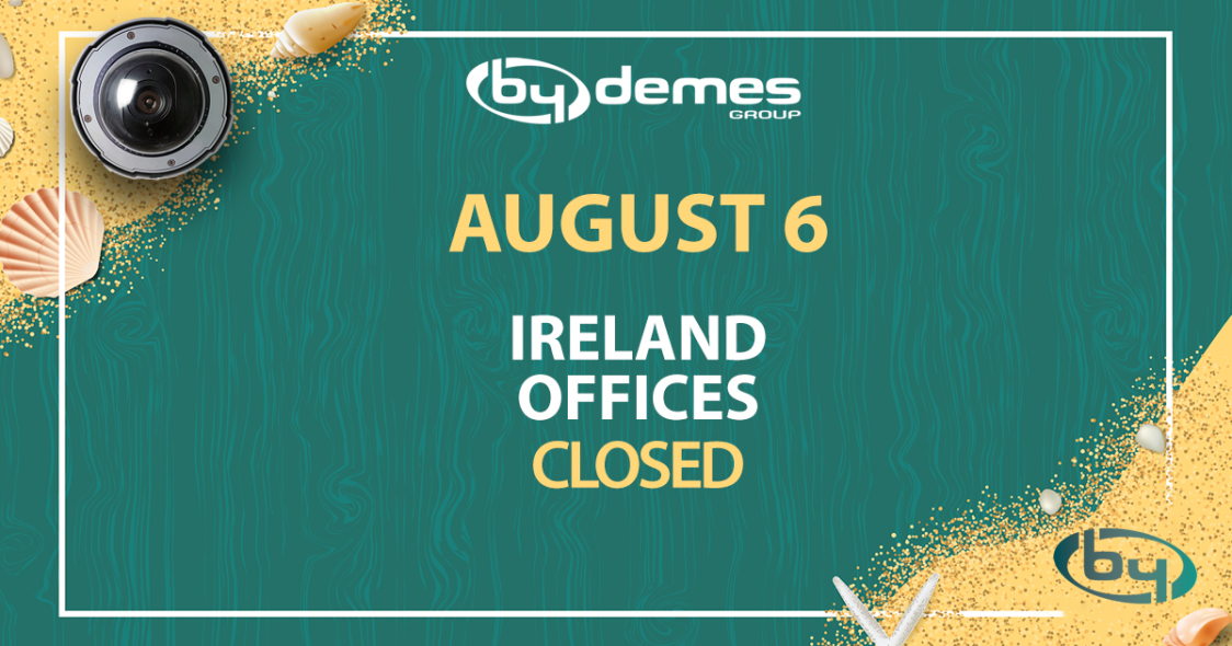 Ireland offices will be closed on August 6